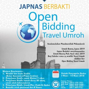 Umroh Japnas Travel Open Bidding